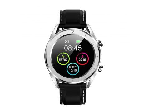 Умные часы No.1 DT28 Silicon с ЭКГ и пульсоксиметром Серебристый