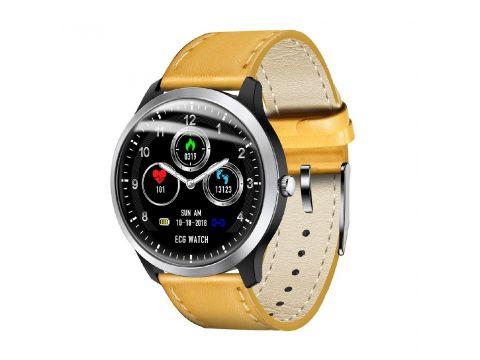 Умные часы Lemfo N58 с измерением давления и ЭКГ Коричневый