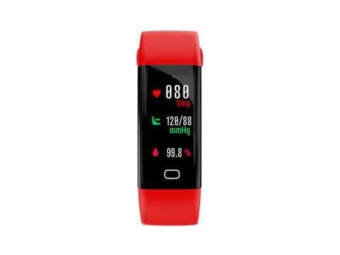 Умный фитнес браслет Lemfo F07 с тонометром c пульсоксиметром Красный
