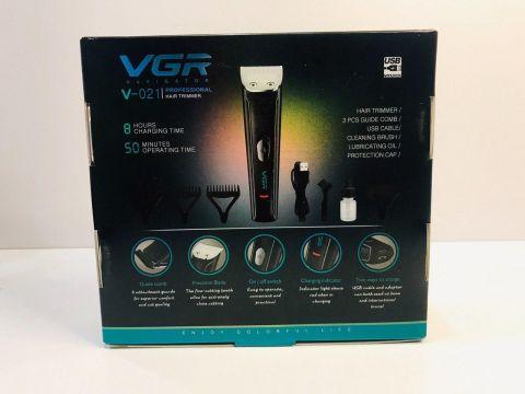 Аккумуляторный Триммер для Стрижки Волос, Бороды, Головы, Тела VGR V 021 (10529)