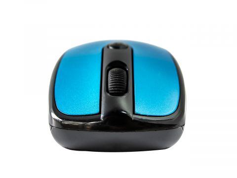 Беспроводная мышь Sony 2.4 G Черная с синим (10561)