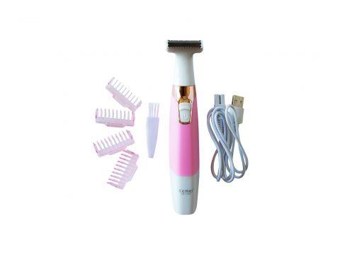 Женский Аккумуляторный Триммер для волос на теле, зоны бикини Kemei KM 1900 (10477)