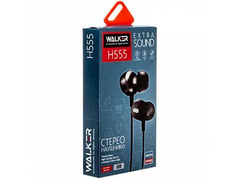 Наушники гарнитура Walker H555 + mic Black