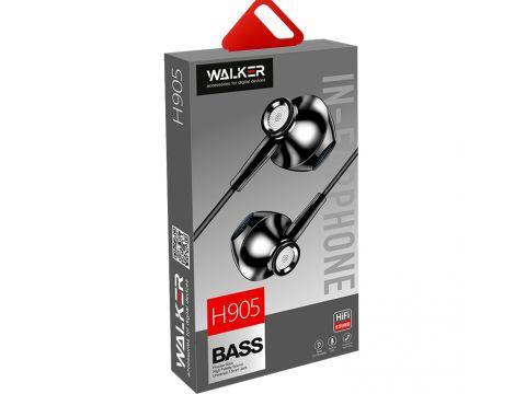 Наушники гарнитура Walker H905 + mic Black