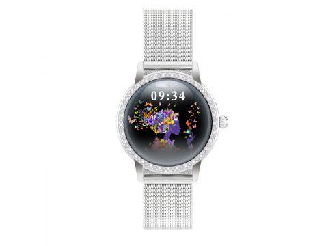 Умные часы Linwear LW20 Metal с тонометром Серебристый