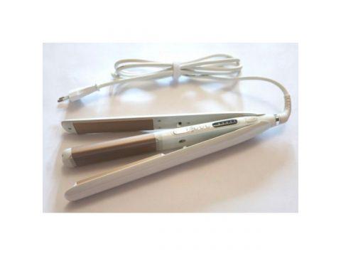 Стайлер плойка для волос утюжок и гофре с регулировкой 2в1 Geemy GM-402 White (hub_lYRX63292)