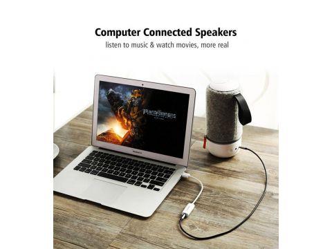 Внешняя звуковая карта Ugreen 2в1 USB Audio Adapter TRRS USB 2.0 White
