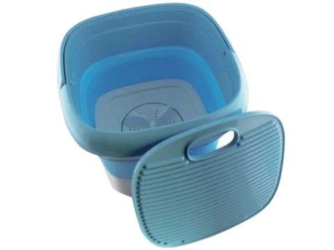 Складная стиральная машина Maxtop 7399, силиконовая, голубая с белым