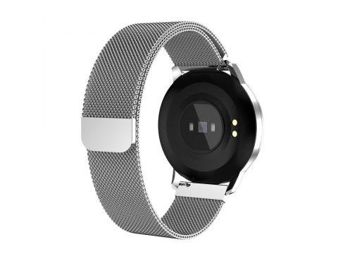 Умные смарт часы Lemfo CF18 Pro Metal с измерением давления и пульса Серебристый