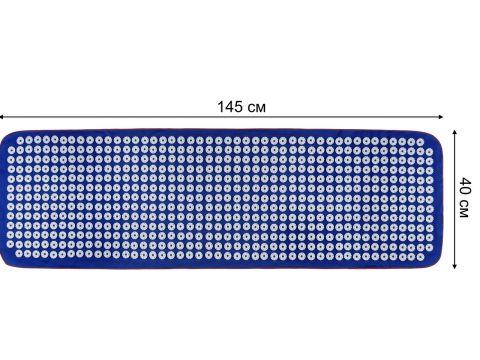 Великий акупунктурний масажний килимок Кузнєцова Універсал 607 шт / 40 * 145 см Синій