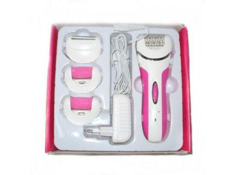 Эпилятор 4 в 1 Shinon SA 7656 с бритвенной насадкой Розовый