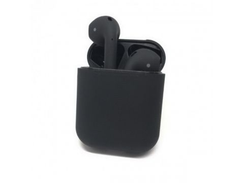 Беспроводные блютуз наушники i12 TWS с боксом для зарядки Black (au060-hbr)