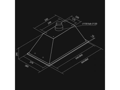 Вытяжка полновстраиваемая NORTBERG Lando Glass 60 с дисплеем и таймером 250 Вт 56.4х28.5х29.5 см White (hub_ZOJL44255)