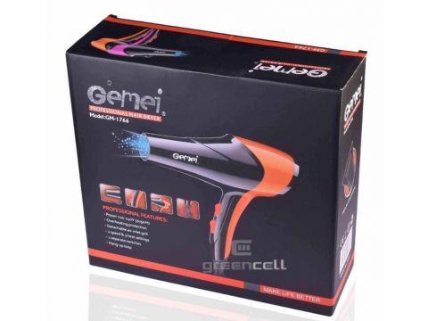Фен Gemei GM-1766 2600W Черный с розовым (008409)