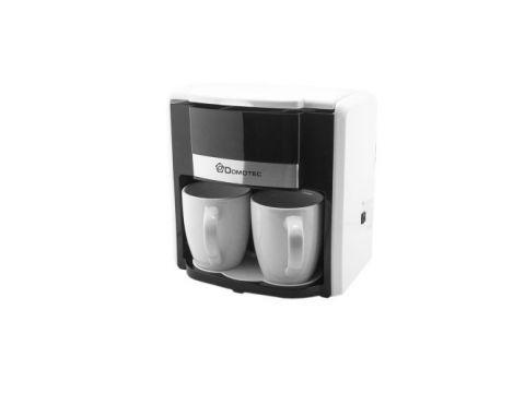 Капельная кофеварка с 2 чашками Domotec MS-0706 White (008524)