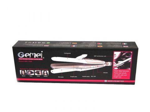 Плойка-утюжок Gemei GM-1960 3in1 Белый с розовым (hub_np2_1080)