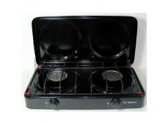 Газовая плита ЭЛНА ПГ2-Н двухконфорочная с крышкой Черный (56869)