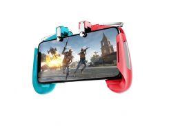 Беспроводной геймпад-триггер для смартфонов Union PUBG Mobile AK16 Голубой + красный (004)
