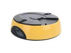 Кормушка для здорового питания с 6 лотками 2 л Желтая (1011)