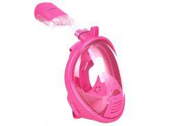 Детская маска для плавания Seagard Easybreath-II полнолицевая с креплением для камеры XS Розовая (SUN1011)
