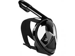 Полнолицевая панорамная маска DIVELUX для дайвинга и снорклинга L/XL Черный (SUN0714)