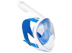 Полнолицевая панорамная маска DIVELUX для дайвинга и снорклинга L/XL Синий (SUN0713)