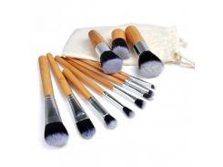 Набор кистей для макияжа + тканевый мешок 11 шт (1026)