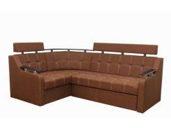Угловой диван Garnitur.plus Элегант 3 светло-коричневый 235 см (DP-336)