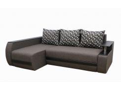Угловой диван Garnitur.plus Граф коричнево-меланжевый 245 см (DP-204)