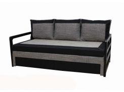 Диван Garnitur.plus Лотос черно-серый 200 см (DP-46)