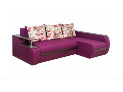 Угловой диван Garnitur.plus Граф фиолетовый 245 см (DP-10)