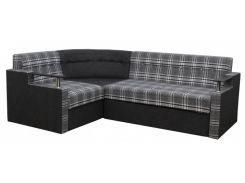 Угловой диван Garnitur.plus Элегант 1 черно-серый 235 см (DP-401)
