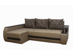 Угловой диван Garnitur.plus Граф темно-бежевый 245 см (DP-228)
