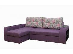 Угловой диван Garnitur.plus Барон сиреневый 250 см (DP-185)