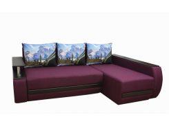 Угловой диван Garnitur.plus Граф бордовый 245 см (DP-234)