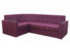 Угловой диван Garnitur.plus Элегант 2 фиолетовый 235 см (DP-23)