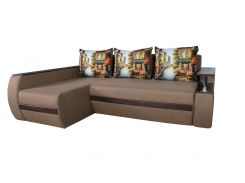 Угловой диван Garnitur.plus Граф бежевый 245 см (DP-15)