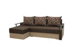 Угловой диван Garnitur.plus Микс коричневый 230 см (DP-361)