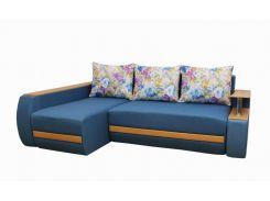Угловой диван Garnitur.plus Граф голубой 245 см (DP-244)