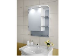 Шкаф зеркальный Garnitur.plus в ванную с LED подсветкой 27SZ (DP-V-200126)