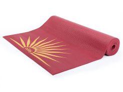 Коврик для йоги Bodhi Leela Sun Salutation 183 x 60 x 0.4 см Красный (000000385)