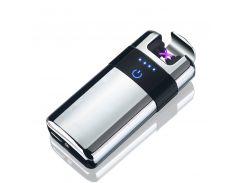 Акумуляторна USB запальничка SUNROZ MLT155 Срібний (SUN2504)