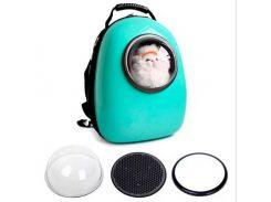 Рюкзак-переноска для животных AnimAll SpacePet Мятный (63458)