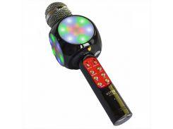 Беспроводной караоке микрофон WSTER WS-1816 USB AUX FM Черный (200192)