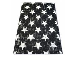 Ковер Лущув SIZAL FLAT 200x290 см 48648/690 звездный узор Черный (B304)