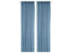 Шторы IKEA AINA 145 x 300 см Синий (603.288.77)