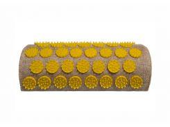 Массажный акупунктурный полувалик Onhillsport Lounge 24 х 11 х 6 см Желтый (LS-1003-3)