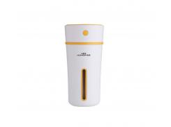 Ультразвуковой мини увлажнитель воздуха Mini humidifier Белый с желтым (15668Y)