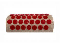 Массажный полувалик акупунктурный Onhillsport Lounge 24 х 11 х 6 см Красный (LS-1003-1)