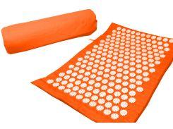 Массажный коврик Onhillsport Релакс аппликатор Кузнецова 55 х 40 см Оранжевый (MS-1251-3)
